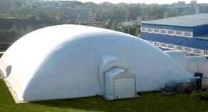 Воздухоопорные конструкции для экономного и быстрого сооружения зданий