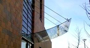 Козырьки из стекла