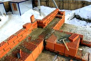 Строительство из кирпичных блоков