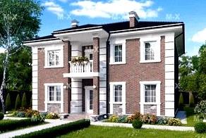 Как красиво построить дом в ретро стиле